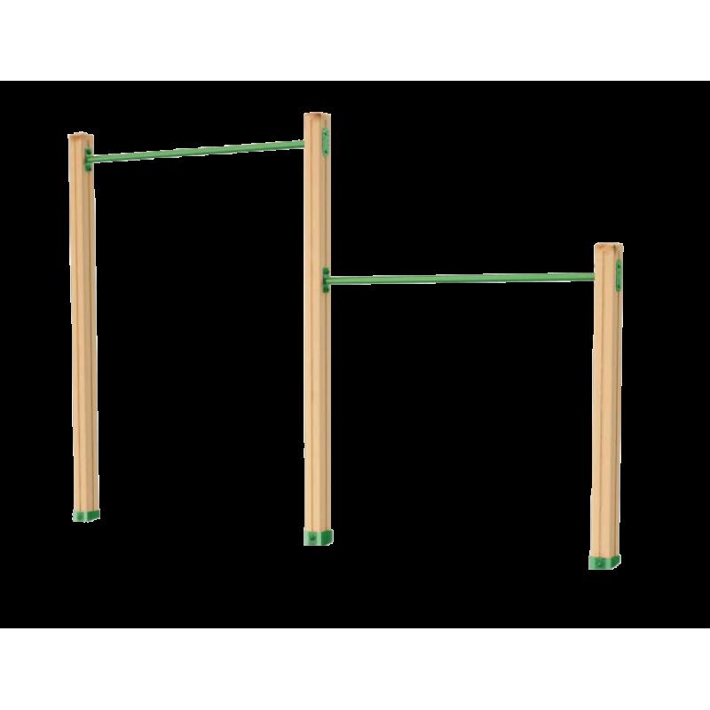 Турник двойной деревянный